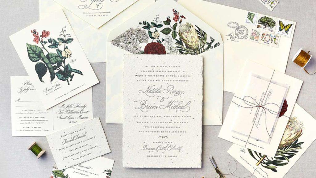seed wedding invitations using seed paper